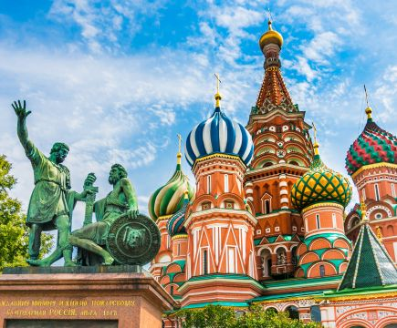 The main symbol of Russia - St. Basil's Cathedral in Moscow