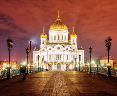 Cathedral of Christ the Savior in Moscow - the largest cathedral of the Russian Orthodox Church