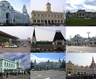 Moscow train stations